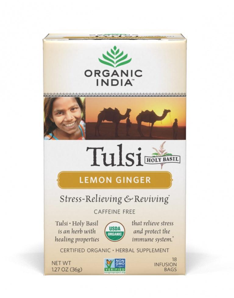 Tulsi Citrom-Gyömbér - filteres tea, 18 db filter