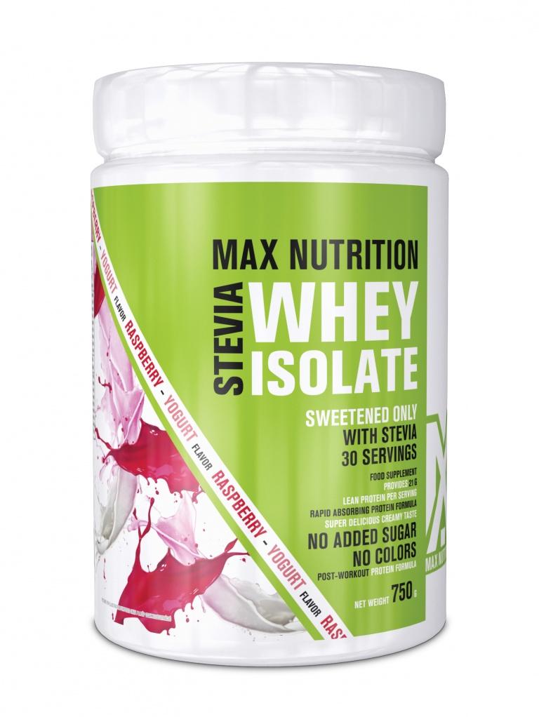STEVIA 100% Whey Isolate - Joghurt-Málna ízben - 750g